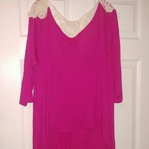 Tops - Pink boutique shirt size small but runs big
